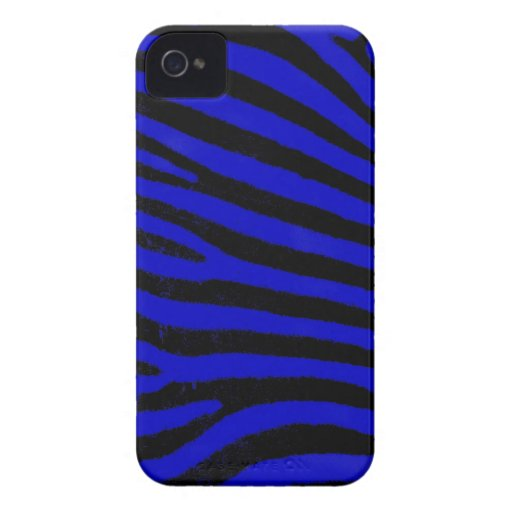 Blue Zebra  Barely There™ iPhone 4 Case