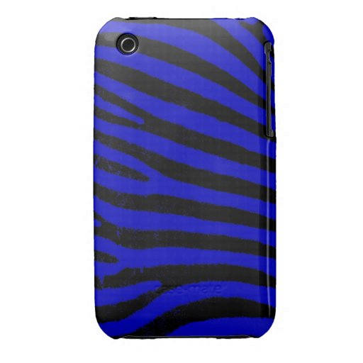 Blue Zebra iPhone 3G/3GS Case-Mate Barely There™ iPhone 3 Case