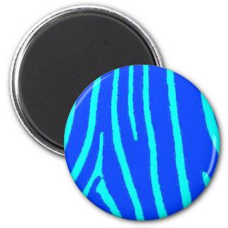Blue Zebra Print Magnet