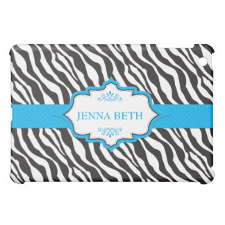 Blue Zebra Ribbon iPad Mini Case