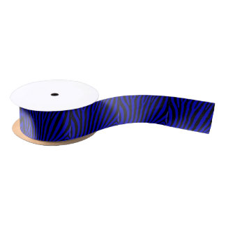 Blue zebra Satin Ribbon