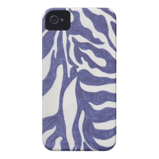 Blue Zebra Stripe Blackberry Case-mate Cover