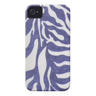 Blue Zebra Stripe Blackberry Case-mate Cover iPhone 4 Case-Mate Cases