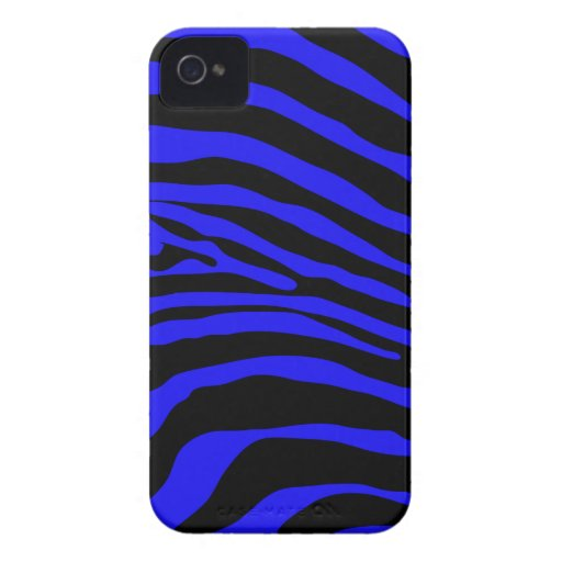 Blue Zebra Stripe Blackberry Phone Case Blackberry Bold Cases
