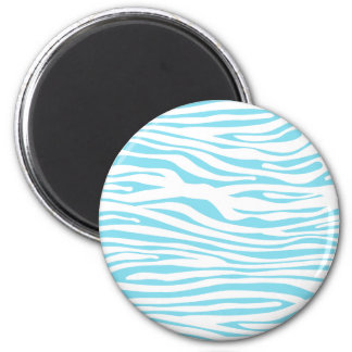 Blue Zebra stripe pattern Fridge Magnet