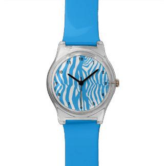 Blue Zebra Stripe Watch