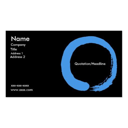 Blue Zen Circle Business Card