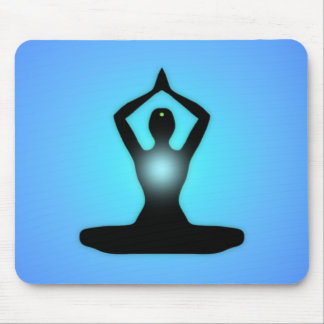 Blue Zen Meditation Sunburst Mouse Pad