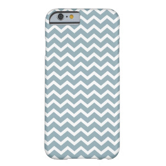 Blue Zig Zag Chevrons Pattern Barely There iPhone 6 Case