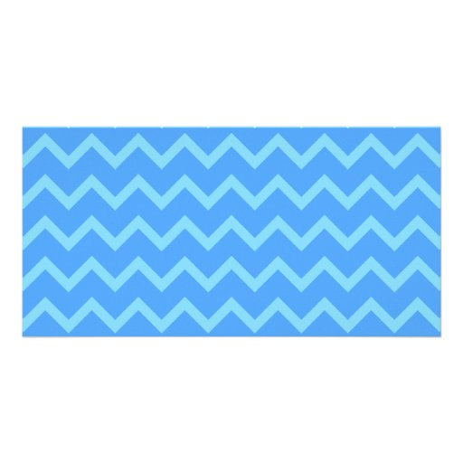 Blue Zig Zag Pattern. Picture Card