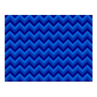Blue Zig Zag Pattern. Postcards