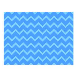 Blue Zig Zag Pattern. Post Cards