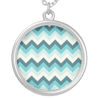 Blue ZigZag pattern Necklaces