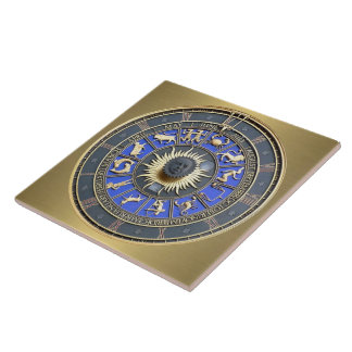 Blue Zodiac Wheel Tile