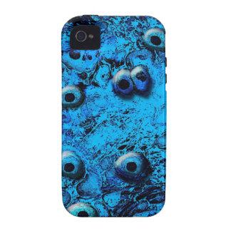 Blue Zombi Eyes iPhone 4 Case