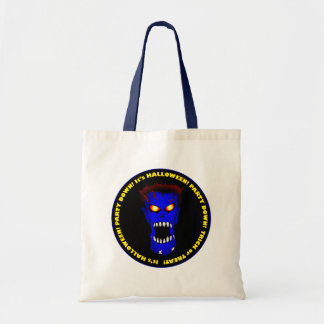 BLUE ZOMBIE TOTE BAGS