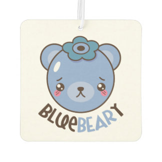 BlueBeary Blueberry Bear Car Air Freshener