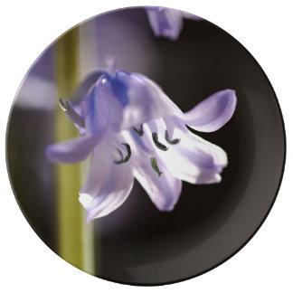 Bluebell Flower Porcelain Plate