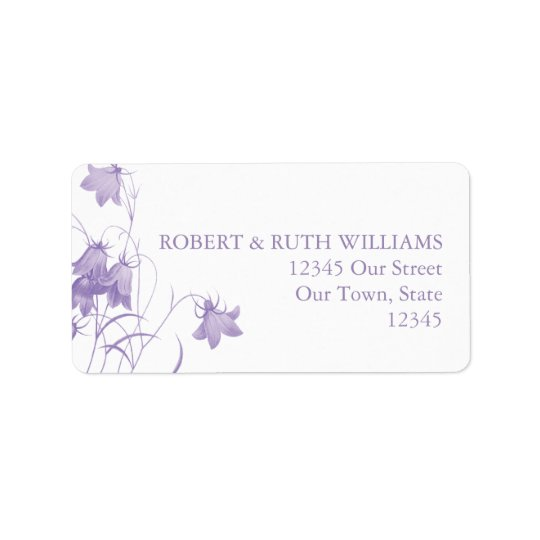 Bluebell - Purple Address Label