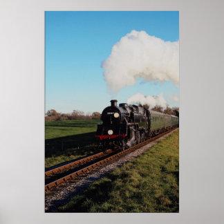 Bluebell Railway Standard 4 tank Poster