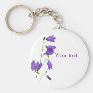 Bluebell text keychains on White