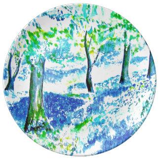 Bluebell wood. porcelain plates