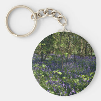 Bluebell Woods  flowers Key Ring