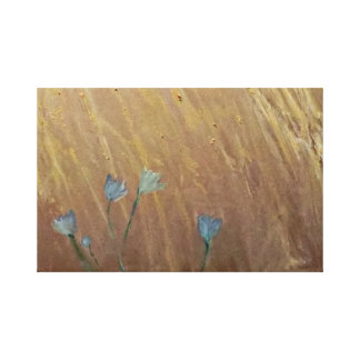 Bluebells In Wheat Canvas Print