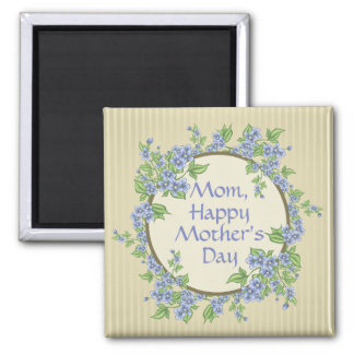 "Bluebells ""Mom, Happy Mother's Day"" Typography Magnet"