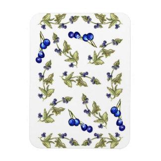 Blueberries and Leaves on Stem Vine magnet