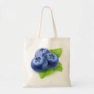 Blueberries and mint tote bag