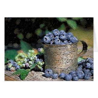 Blueberries Blank Greeting Card