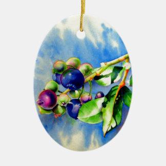 Blueberries Ceramic Ornament