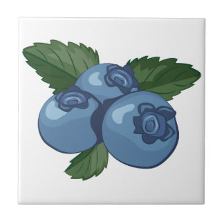 Blueberries Ceramic Tile