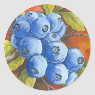Blueberries Classic Round Sticker