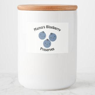Blueberries Food Label