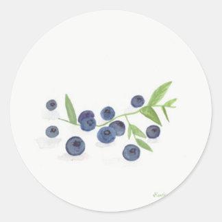 Blueberries fruit kitchen decor classic round sticker