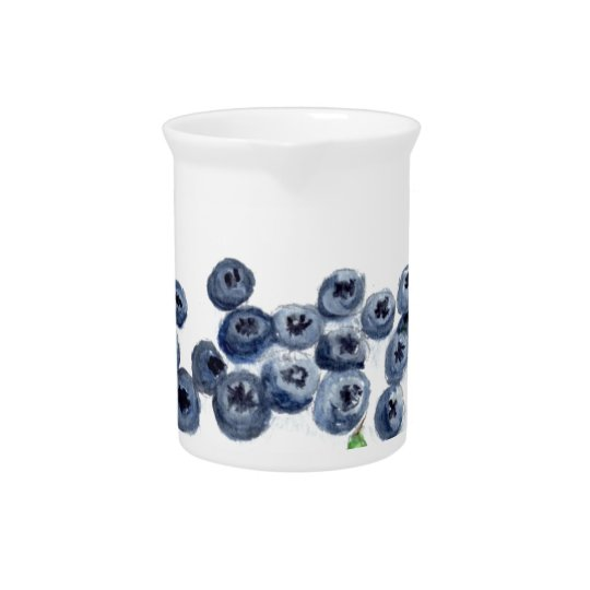 Blueberries fruits kitchen decor beverage pitchers