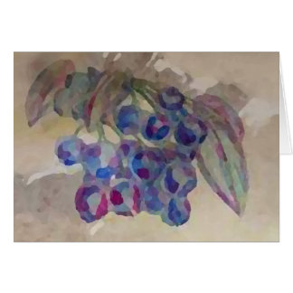 Blueberries Invites Pretty Watercolor Painting Card