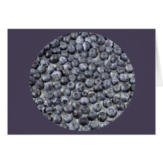 Blueberries on Glass Card