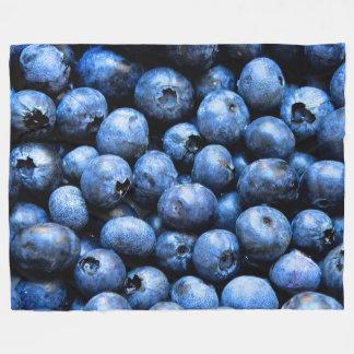 Blueberries on Large Fleece Blanket