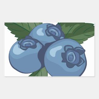 Blueberries Rectangular Sticker