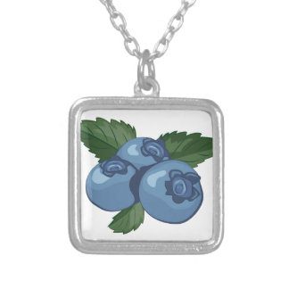 Blueberries Silver Plated Necklace