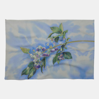Blueberries Tea Towel
