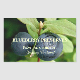 Blueberries, Vaccinium ovalifolium Rectangular Sticker