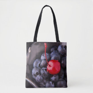 Blueberries With Cherry On Top Tote Bag
