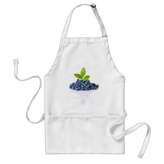 Blueberries With Green Leaves Standard Apron
