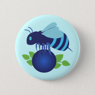 Blueberry Bee 6 Cm Round Badge