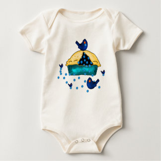 Blueberry Birds Baby T Baby Bodysuit