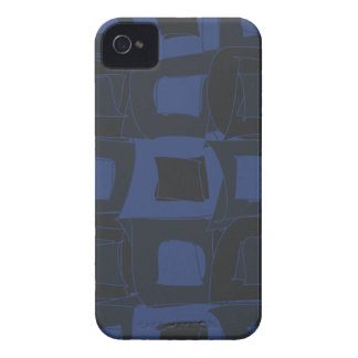 Blueberry Blue Abstract Design iPhone 4 Case-Mate Cases